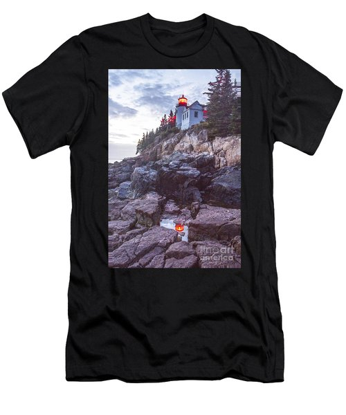 Bass Harbor Light Reflection Men's T-Shirt (Athletic Fit)