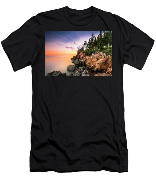 Bass Harbor Lighthouse Sunset Men's T-Shirt (Athletic Fit)