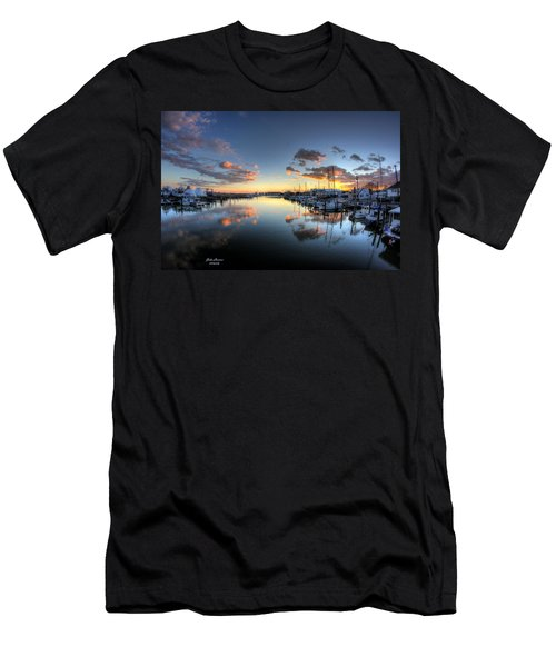 Bass Harbor Sunset Men's T-Shirt (Athletic Fit)