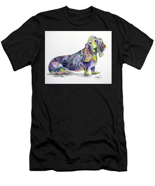 Basset Hound Horace Men's T-Shirt (Slim Fit) by Patricia Lintner