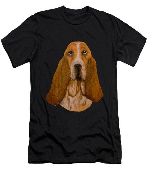 Basset Hound Portrait Men's T-Shirt (Athletic Fit)