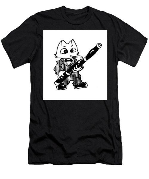 Bassoon Cat Men's T-Shirt (Athletic Fit)