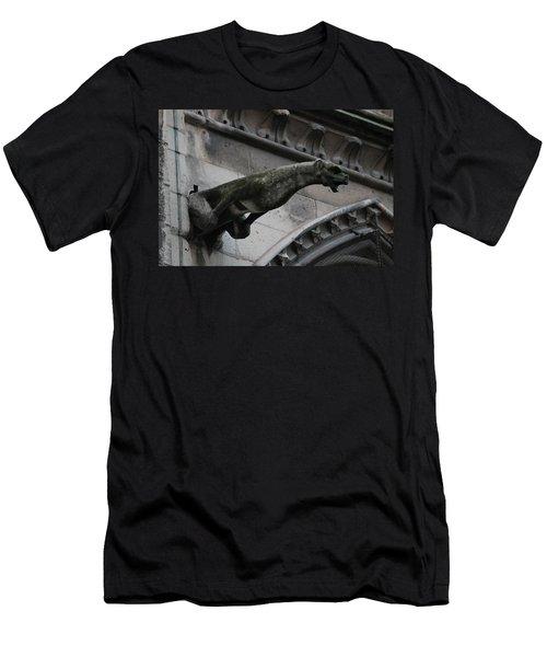 Bat Eared Dog Gargoyle Of Notre Dame Men's T-Shirt (Athletic Fit)