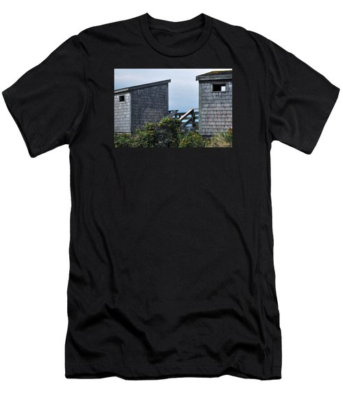 Bath Houses At Nobska Beach Men's T-Shirt (Athletic Fit)