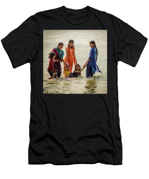 Bathing At Varkala II Men's T-Shirt (Athletic Fit)