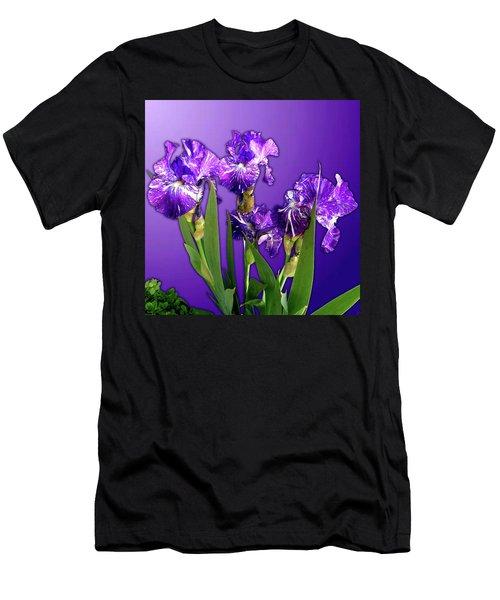 Batik Irises Men's T-Shirt (Athletic Fit)