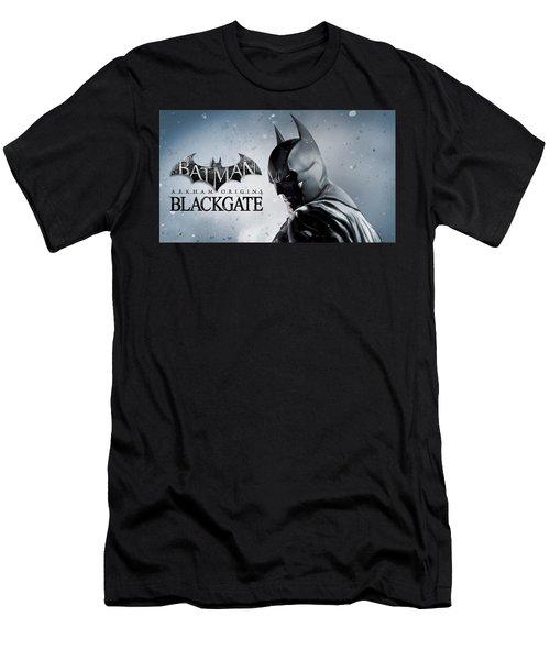 Batman Arkham Origins Blackgate Men's T-Shirt (Athletic Fit)