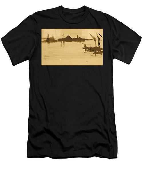 Battersea Reach Looking  Across The Thames Men's T-Shirt (Athletic Fit)