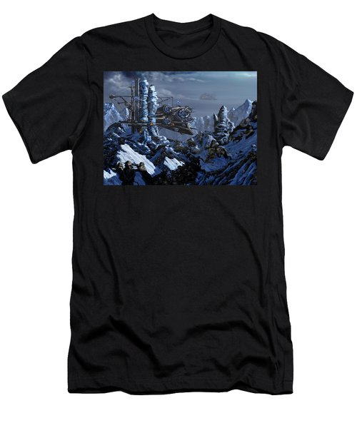 Men's T-Shirt (Slim Fit) featuring the digital art Battle Of Eagle's Peak by Curtiss Shaffer