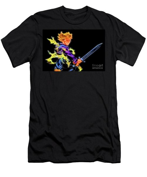 Men's T-Shirt (Athletic Fit) featuring the digital art Battle Stance Trunks by Ray Shiu