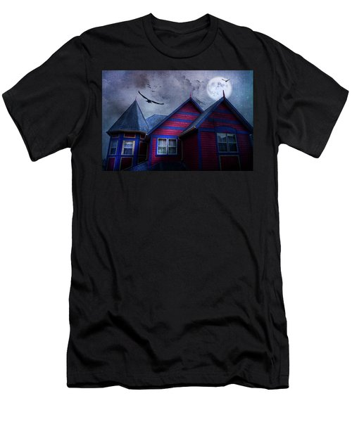 Men's T-Shirt (Slim Fit) featuring the photograph Battle Street West by Theresa Tahara
