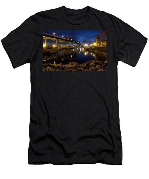Battleship Cove, Fall River, Ma Men's T-Shirt (Athletic Fit)