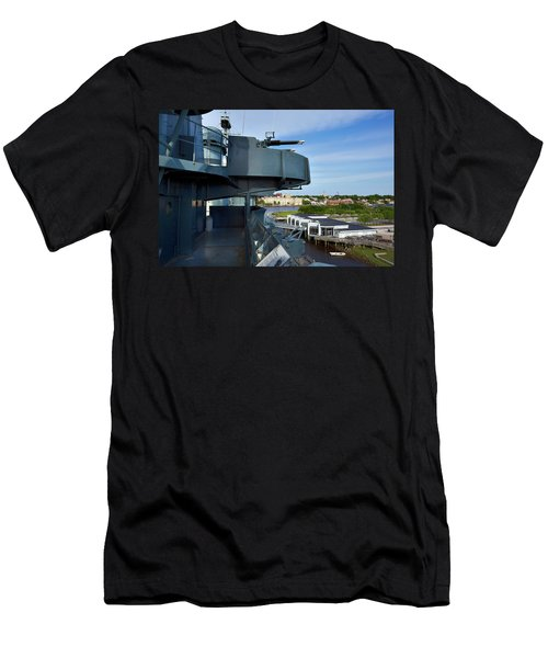 Battleship View Of Wilmington Nc Men's T-Shirt (Athletic Fit)