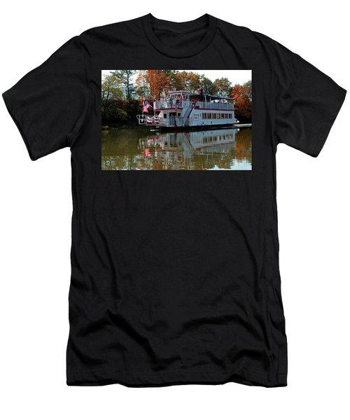 Men's T-Shirt (Slim Fit) featuring the photograph Bavarian Belle Riverboat by LeeAnn McLaneGoetz McLaneGoetzStudioLLCcom