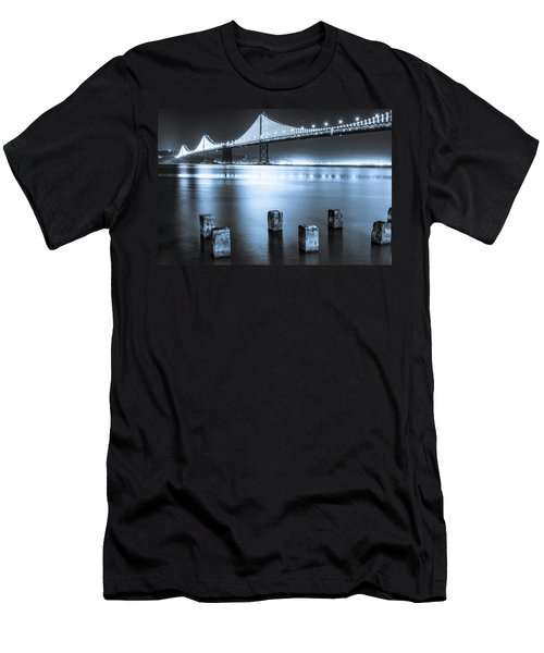 Bay Bridge 1 In Blue Men's T-Shirt (Athletic Fit)