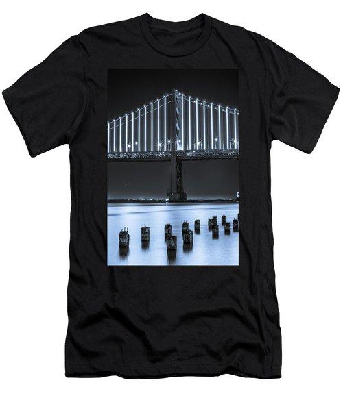 Bay Bridge 2 In Blue Men's T-Shirt (Athletic Fit)