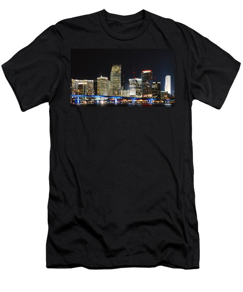 Bay Front Miami Skyline Men's T-Shirt (Athletic Fit)