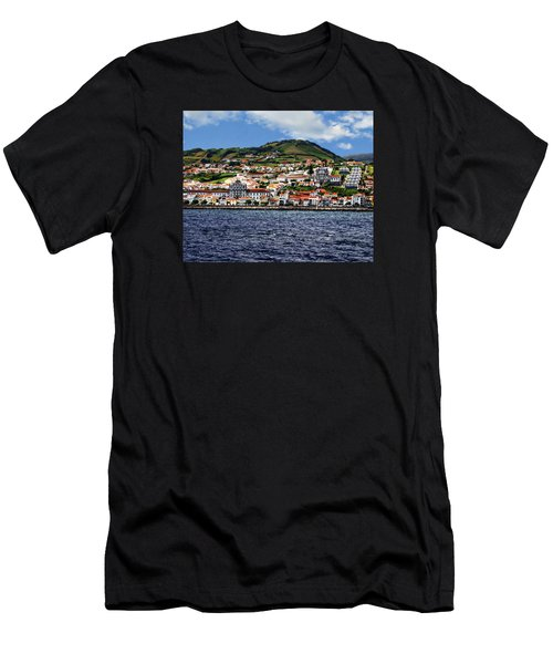 Bay Of Horta Men's T-Shirt (Slim Fit) by Anthony Dezenzio
