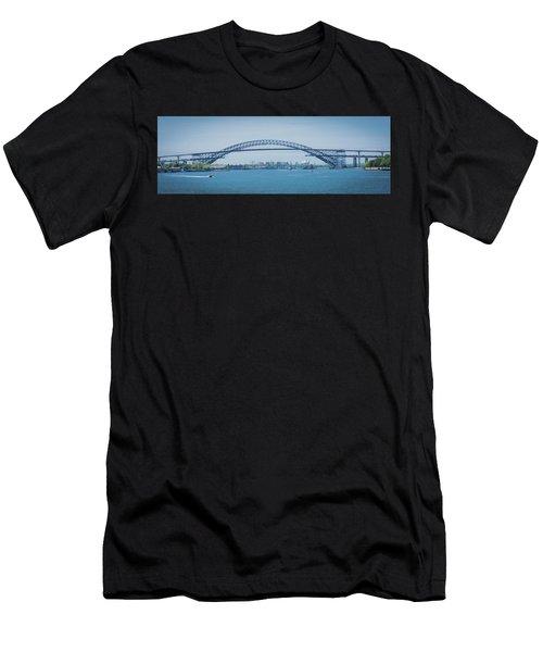 Bayonne Bridge Raising Men's T-Shirt (Athletic Fit)