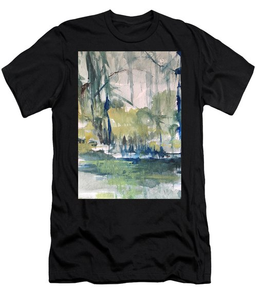 Bayou Blues Abstract Men's T-Shirt (Athletic Fit)