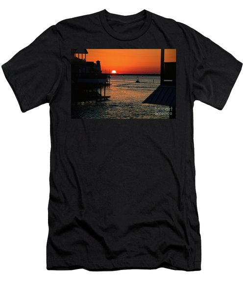 Bayou Vista Sunset Men's T-Shirt (Athletic Fit)