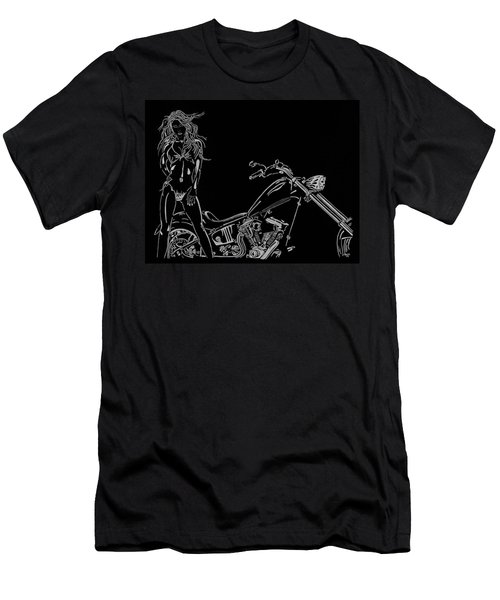 Men's T-Shirt (Slim Fit) featuring the drawing Bb Four by Mayhem Mediums