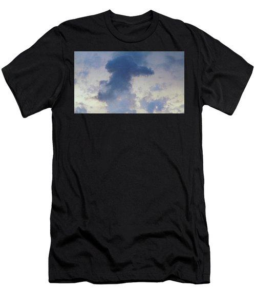Blue Bunny Cloud  Men's T-Shirt (Athletic Fit)