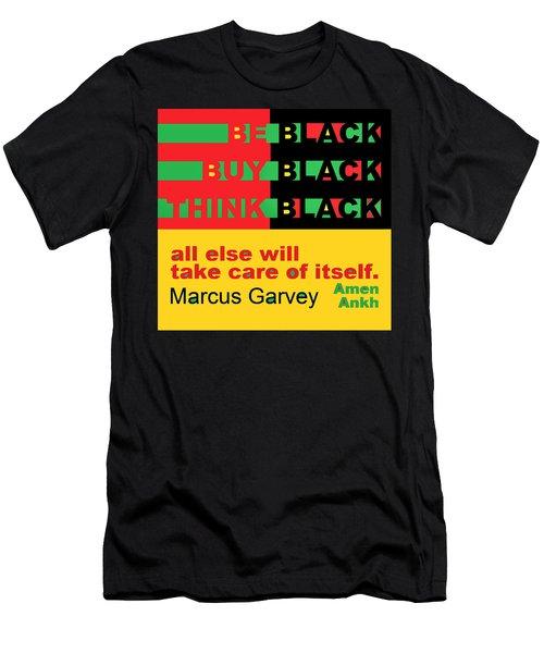 Be Black Rbg Men's T-Shirt (Athletic Fit)