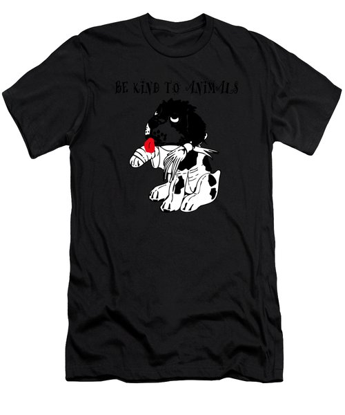 Be Kind To Animals Men's T-Shirt (Athletic Fit)