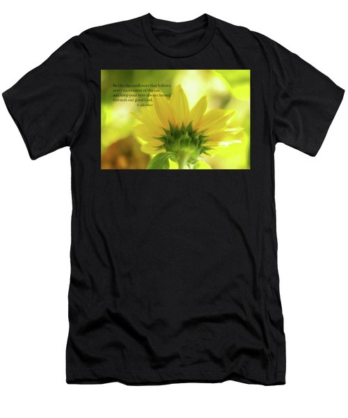 Be Like The Sunflower Men's T-Shirt (Athletic Fit)