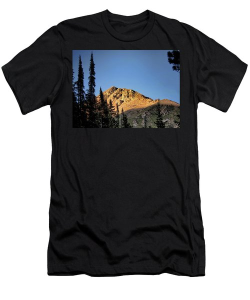 Men's T-Shirt (Slim Fit) featuring the photograph Be Still Like A Mountain ... by Jim Hill