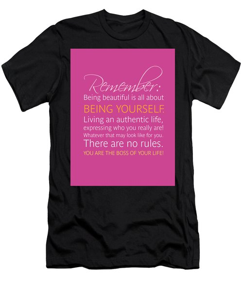 Be Yourself Men's T-Shirt (Athletic Fit)