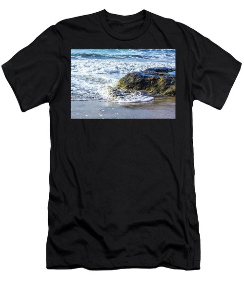Wave Around A Rock Men's T-Shirt (Athletic Fit)