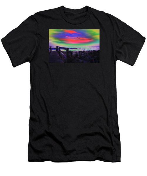 Beach Access Men's T-Shirt (Athletic Fit)