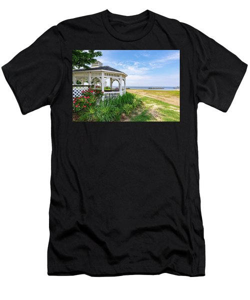 Beach At Rock Hall Men's T-Shirt (Athletic Fit)