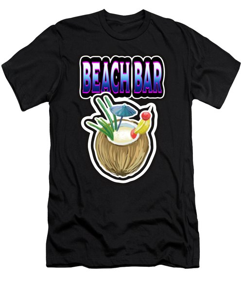 Beach Bar Men's T-Shirt (Athletic Fit)