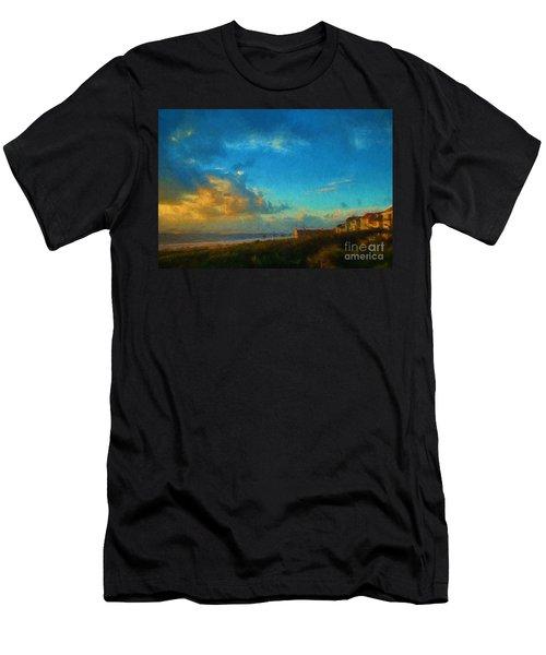 Beach Beauty  Men's T-Shirt (Athletic Fit)