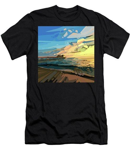 Beach Men's T-Shirt (Slim Fit) by Bekim Art