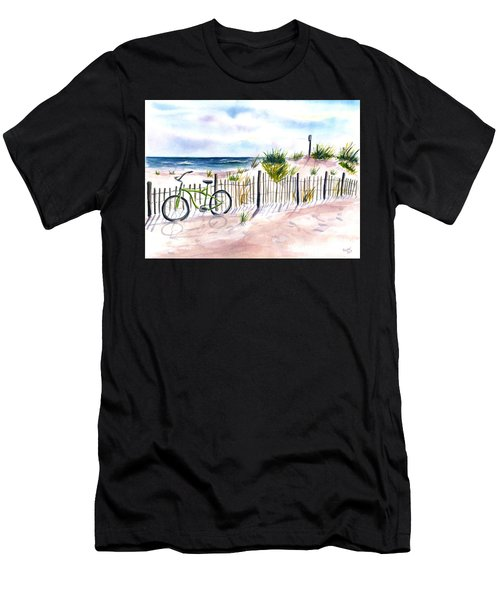 Beach Bike At Seaside Men's T-Shirt (Athletic Fit)