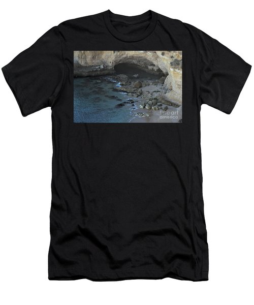 Beach Cave From The Cliffs In Malhada Do Baraco Men's T-Shirt (Athletic Fit)