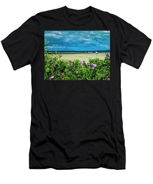 Beach Daisies Men's T-Shirt (Athletic Fit)