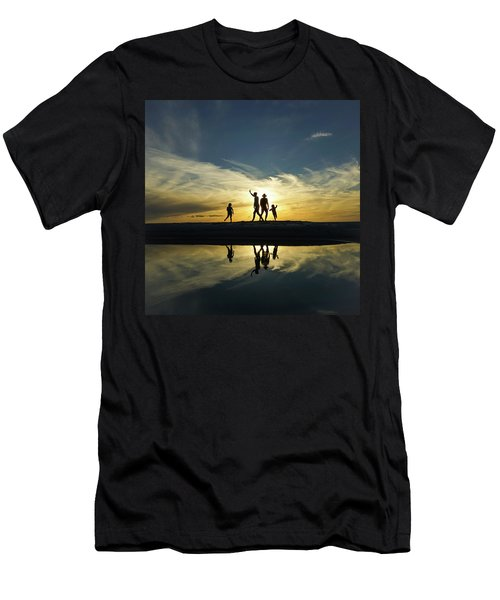Beach Dancing At Sunset Men's T-Shirt (Athletic Fit)