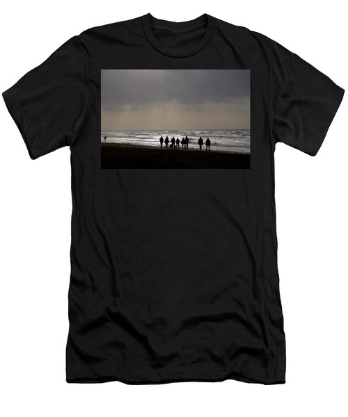 Beach Day Silhouette Men's T-Shirt (Athletic Fit)
