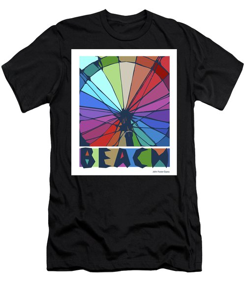 Beach Design By John Foster Dyess Men's T-Shirt (Athletic Fit)