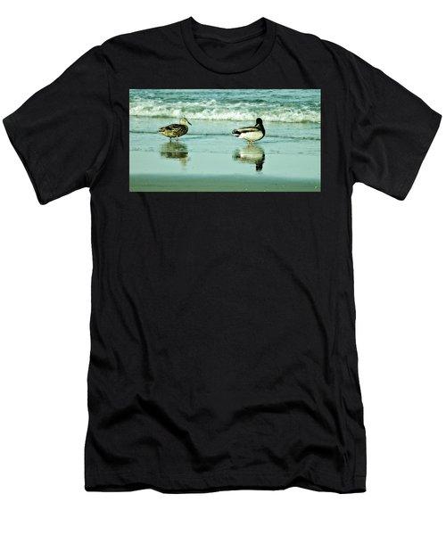 Beach Ducks Men's T-Shirt (Athletic Fit)