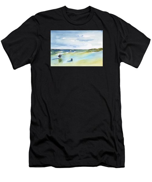 Beach Fishing Men's T-Shirt (Athletic Fit)