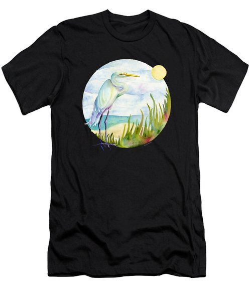 Beach Heron Men's T-Shirt (Athletic Fit)