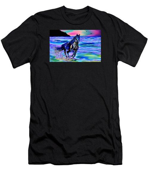 Beach Horse Men's T-Shirt (Athletic Fit)