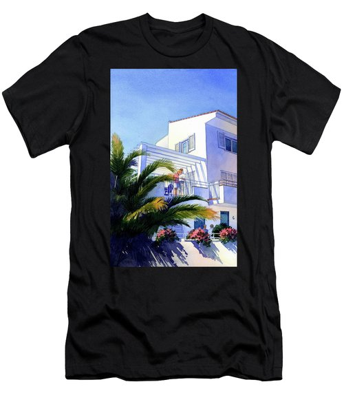 Beach House At Figueres Men's T-Shirt (Athletic Fit)