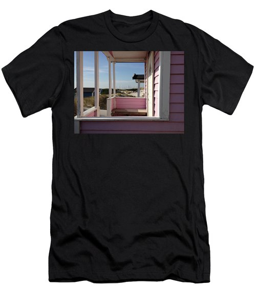 Men's T-Shirt (Athletic Fit) featuring the photograph Beach Houses by Michael Maximillian Hermansen